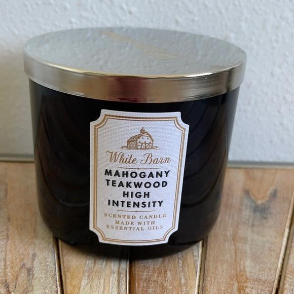 Bath And Bodyworks Mahogany Teakwood 3 Wick Candle